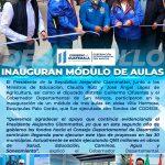 PRESIDENTE ALEJANDRO GIAMMATTEI PARTICIPA EN INAUGURACIÓN DE AULAS EN ESQUIPULAS PALO GORDO